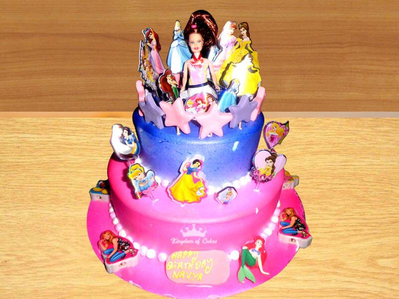 Unwind Princess Kingdom Tiers Cake